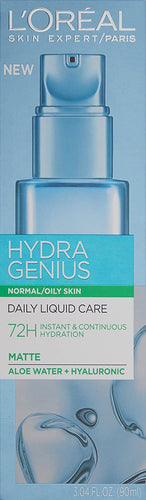 L'Oreal Paris Hydra Genius Daily Liquid Care Oil-Free Face Moisturizer Normal to Oily Skin 3.04 fl. oz