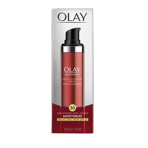 Olay Regenerist Micro-Sculpting Cream Face Moisturizer with Sunscreen SPF 30 Broad Spectrum 1.7 oz