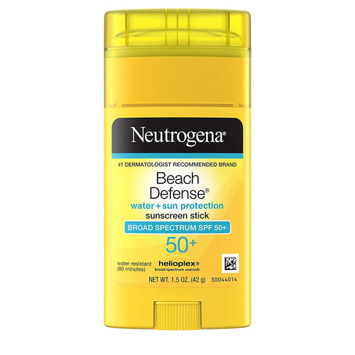 Neutrogena Beach Defense Water-Resistant Body Sunscreen Stick with Broad Spectrum SPF 50+, 1.5oz