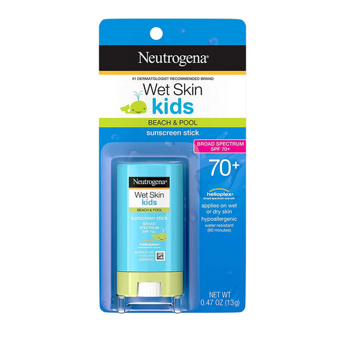 Neutrogena Wet Skin Kids Water Resistant Sunscreen Stick SPF 70 0.47 oz