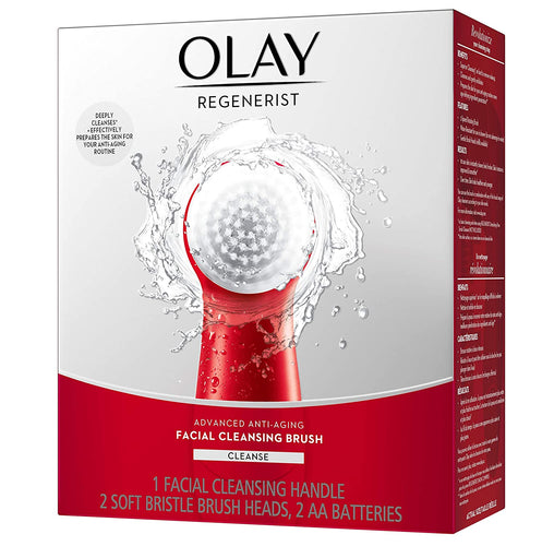 Olay Regenerist, Face Exfoliator with 2 Brush Heads, Great Stocking Stuffer
