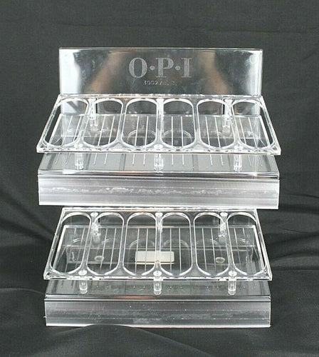 OPI Empty Clear Nail Polish Display Rack - Hold Up to 36 Bottles