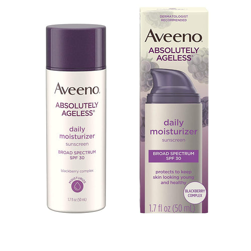 AVEENO ABSOLUTELY AGELESS DAILY MOISTURIZER BROAD SPECTRUM SPF 30 1.7oz