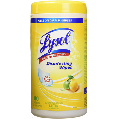 Lysol Disinfecting Wipes 80 CT