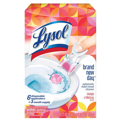 Lysol Lysol Automatic Toilet Bowl Cleaner, Mango & Hibiscus, 6 Count