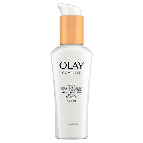 Olay Complete Daily Defense All Day Moisturizer With Sunscreen, SPF30 Sensitive Skin, 2.5 fl. Oz., (Pack of 2)