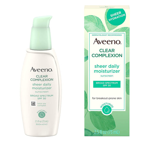 Aveeno Clear Complexion Sheer Daily Face Moisturizer 2.5oz