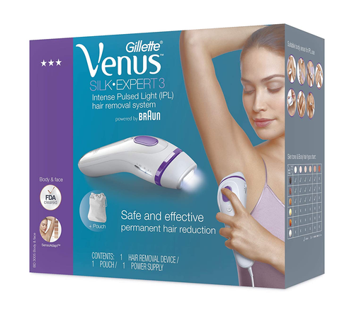 Gillette Venus IPL Hair Removal for Women Silk-expert IPL BD 3005 Home hair removal system for permanent hair reduction