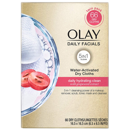 Olay Wipes, 66 count Daily Hydrating Facial Dry Cloths