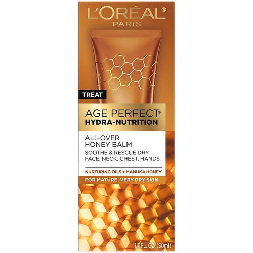 L'Oreal Paris, Age Perfect Hydra-Nutrition All-Over Balm with Manuka Honey Extract and Nurturing Oils 1.7 oz.