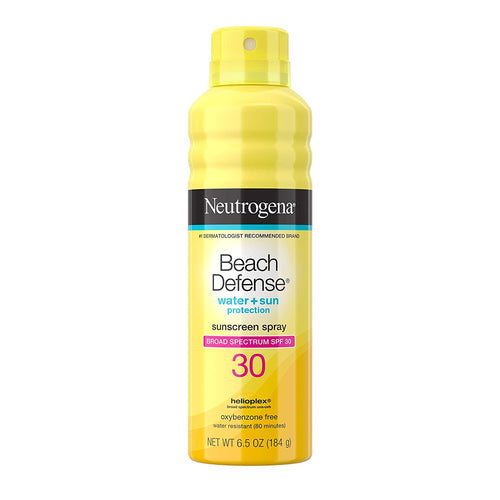 Neutrogena Beach Defense Body Spray Sunscreen SPF 30, Water-Resistant and Oil-Free Sun Protection, 6.5 Ounce