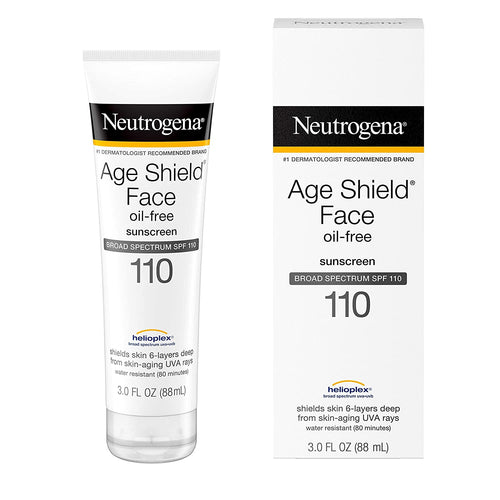 Neutrogena Age Shield Face Lotion Sunscreen SPF 110, Oil-Free Moisturizing Sunscreen, 3 fl. oz