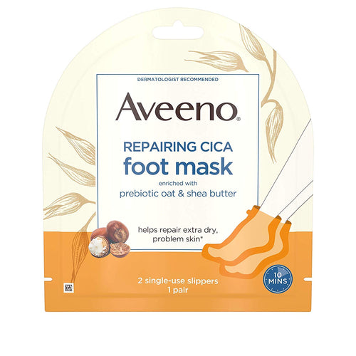Set Aveeno Repairing CICA Foot Mask & Hand Mask w/Prebiotic Oat and Shea Butter