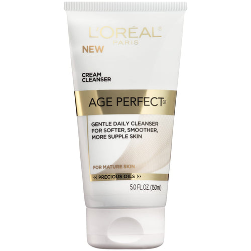 L'Oreal Paris Age Perfect Cream Cleanser, Makeup Remover, Face Wash for All Skin Types, 5 fl. oz