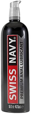 Swiss Navy Premium Silicone Anal Lubricant, 16 oz