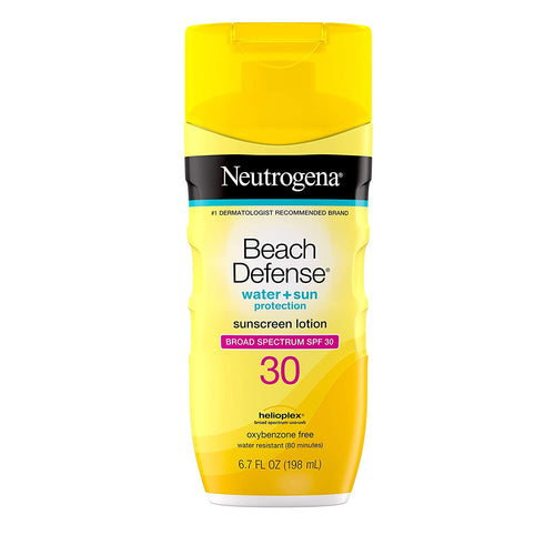 Neutrogena Beach Defense Water-Resistant Body Sunscreen Lotion with Broad Spectrum SPF 30, Oil-Free, 6.7 fl. oz