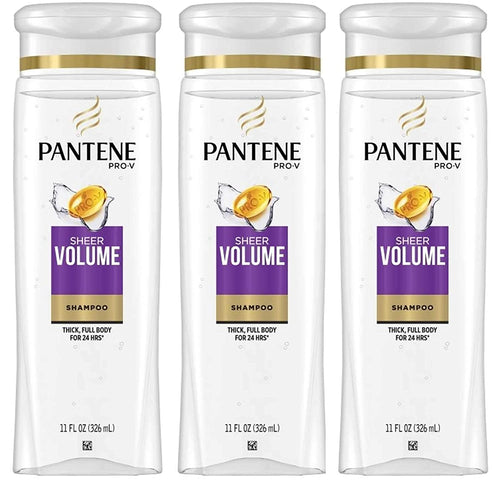 Pantene Pro-V Sheer Volume Thick, Full Body Shampoo 12.6 oz (Pack of 3)