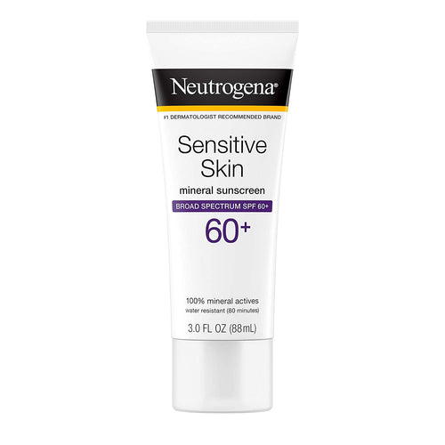 Neutrogena Sensitive Skin Mineral Sunscreen Lotion with Broad Spectrum SPF 60+ 3oz