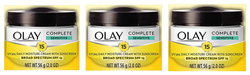 Olay, Complete All Day Moisture Face Cream with Sunscreen, SPF 15, Sensitive Skin, 2.0 fl. oz. (Pack of 3)