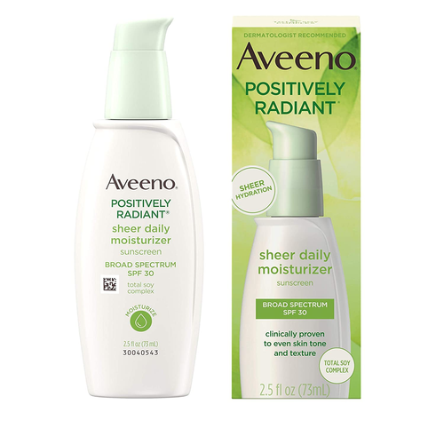 Aveeno Positively Radiant Sheer Daily Moisturizing Lotion for Dry Skin 2.5oz
