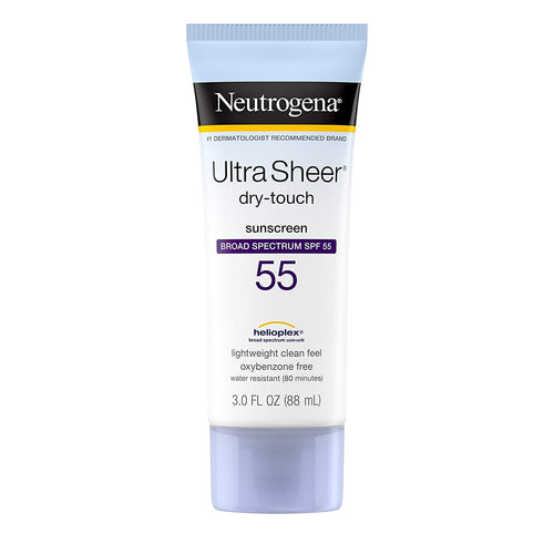 Neutrogena Ultra Sheer Dry-Touch Sunscreen Lotion SPF 55, Water Resistant, 3 fl. oz