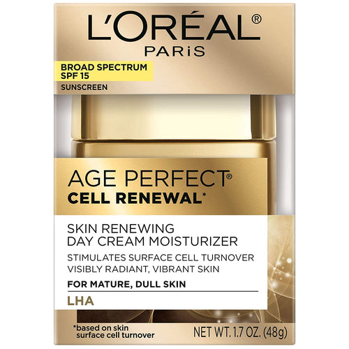 L'Oreal Paris Age Perfect Cell Renewal Skin Renewing Day Cream with SPF 15 1.7 oz