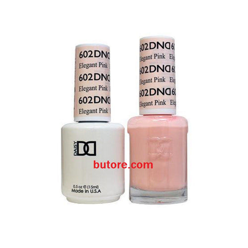 DND Daisy LED/UV Soak Off Gel-Polish (602-elegant pink) Duo 0.5oz