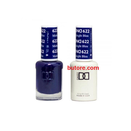 DND Daisy LED/UV Soak Off Gel-Polish (622-midnight blue) Duo 0.5oz