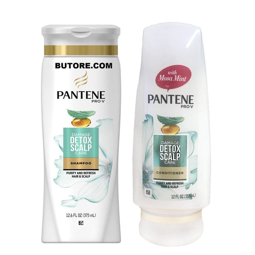 Pantene Pro-V Damage Detox Scalp Care Shampoo And Conditioner, 12.6 fl oz