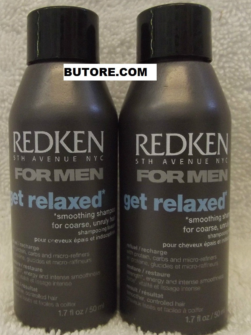 Men GET RELAXED Smoothing Shampoo ~ 1.7 fl oz