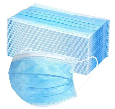 Disposable Single Use 3 Layers Face Masks 50 or 100 pack
