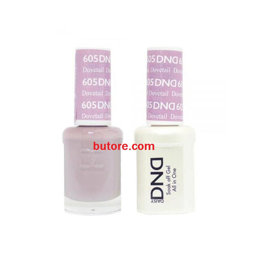 DND Daisy LED/UV Soak Off Gel-Polish (605-dovetal) Duo 0.5oz