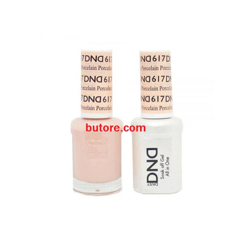 DND Daisy LED/UV Soak Off Gel-Polish (617-porcelain) Duo 0.5oz
