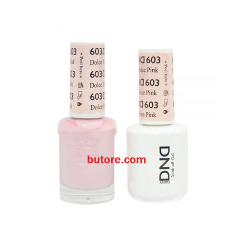 DND Daisy LED/UV Soak Off Gel-Polish (603-dolce pink) Duo 0.5oz