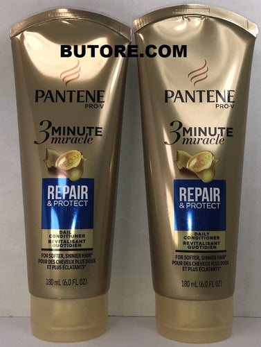 2 Pantene Pro-V, 3 Minute Miracle - Repair & Protect, Daily Conditioner, 6 oz.