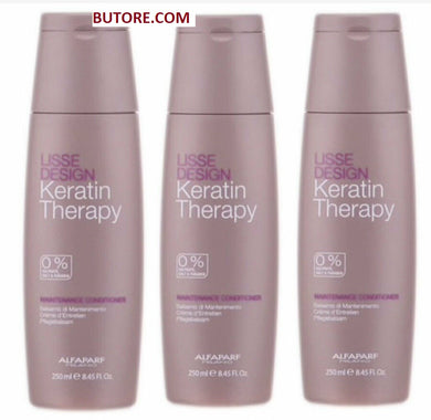 Alfaparf Keratin Therapy Lisse Design Maintenance Conditioner 8.5 oz (Pack of 3)