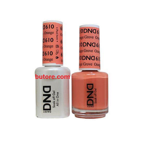 DND Daisy LED/UV Soak Off Gel-Polish (610-orange grove) Duo 0.5oz