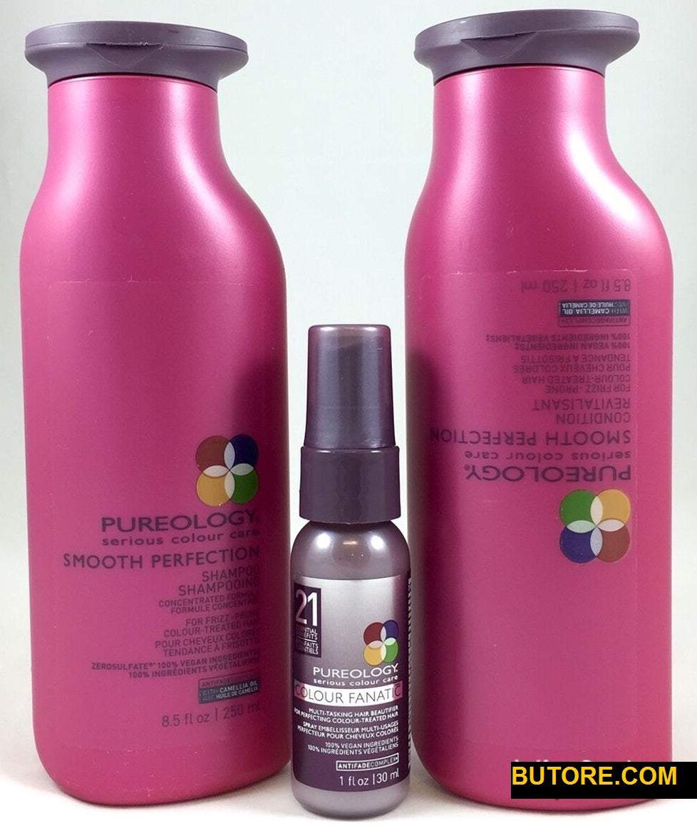 Pureology Smooth Perfection Shampoo & Smooth Perfection Conditioner & Fanatic 21