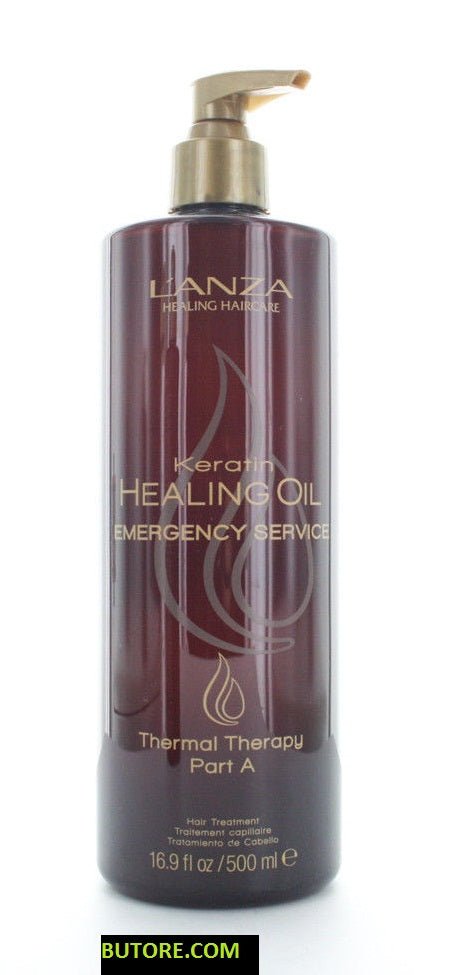 Lanza Keratin Healing Oil Emergency Service Thermal Therapy Part A 16.9oz/