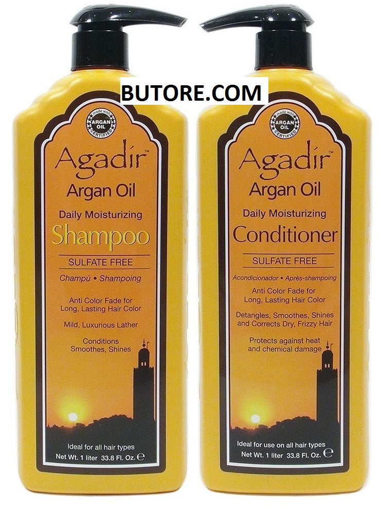 Argan Oil Moisturizing Shampoo and Conditioner Combo Set 33.8 oz