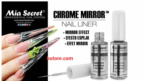 Mia Secret Chrome Mirror Nail Liner *MADE IN USA* Mirror Effect Authorized sell