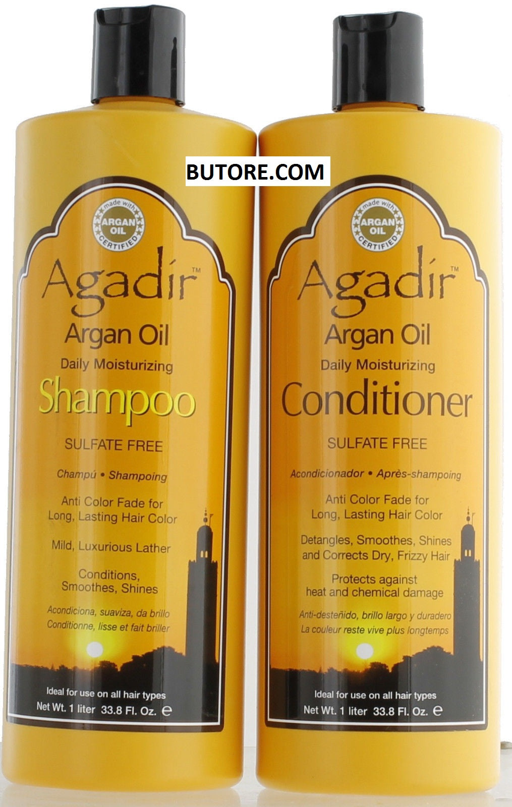 Argan Oil Daily Moisturizing Shampoo 33.8oz & Conditioner 33.8 oz
