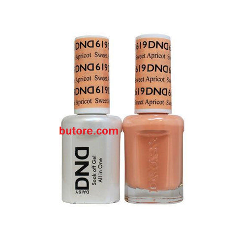 DND Daisy LED/UV Soak Off Gel-Polish (619-sweet apricot) Duo 0.5oz