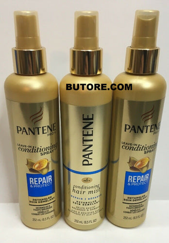 Lot of 3 Pantene Repair & Protect Leave-In Conditioning Detangler Spray 8.5 oz