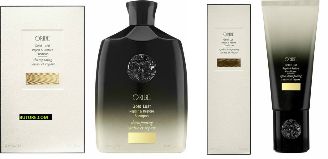 Oribe Gold Lust Repair and Restore Shampoo 8.5 oz. and Conditioner 6.8 oz. Set