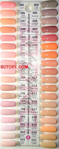 DND Daisy Gel Polish Color Sample Chart #6 Palette Display