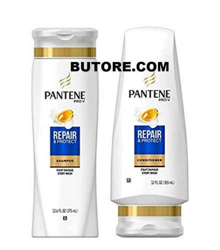 Pantene Repair & Protect Shampoo 12.6 & Conditioner 12 Fl Oz