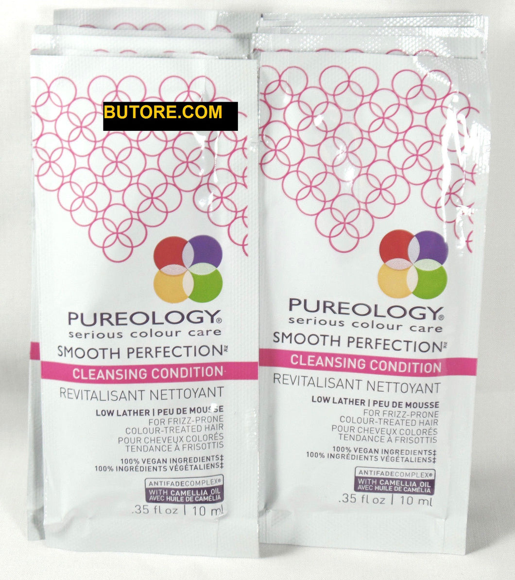 8 Pureology Smooth Perfection Cleansing Conditioner .35 oz. ea Travel Sample Size