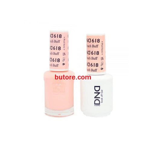 DND Daisy LED/UV Soak Off Gel-Polish (618-peach buff) Duo 0.5oz