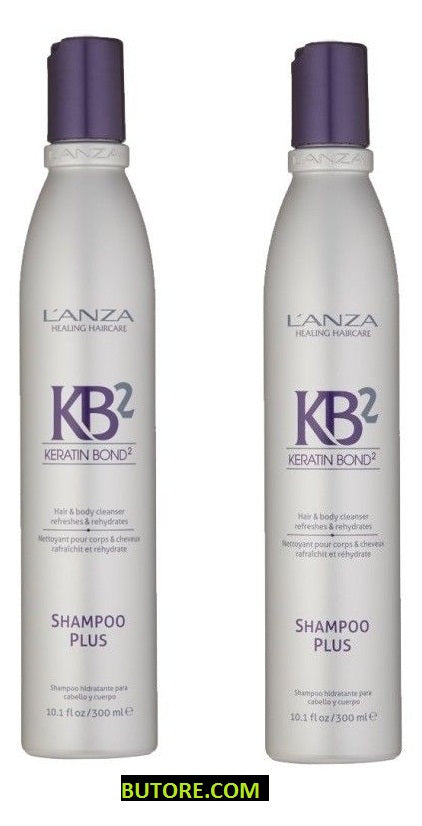 Lanza KB2 Shampoo Plus Hair Body Cleanser 10.1 oz - 2 Pack